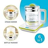 AGU BUBBLY Digitaler Multifunktions (6 IN 1) Wasserkocher Babyflaschenwärmer - Dampfgarer...