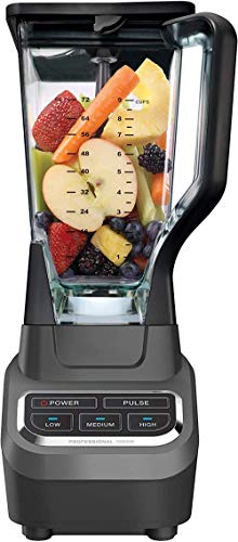 Zixin 72 ounce professional counter blender with 1000 Watt base and total crushing technology for smoothies Ice and frozen fruit (BL610) Black