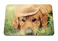 22cmx18cm マウスパッド (犬の帽子の目の悲しみ) パターンカスタムの マウスパッド