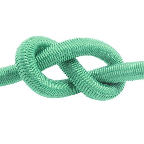 40m corde élastique câble 12mm vert - plusieurs tailles et couleurs