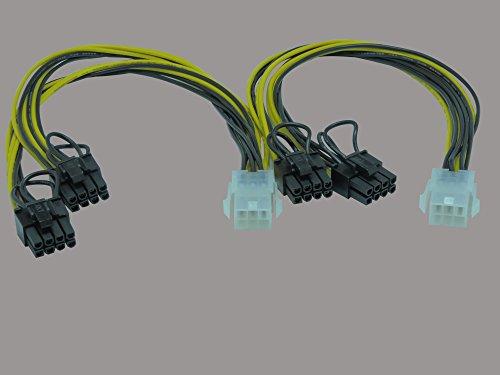 DeLock 83433 Kabel PCI Express Stroomvoorziening 6-Pin bus > 2 x 8 Pin S 2er-Pack