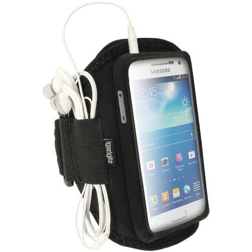 igadgitz Wasserabweisend Schwarz Sports Jogging Armband Laufen Fitness Oberarmtasche für Samsung Galaxy S4 SIV MINI I9190 I9195