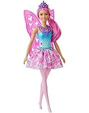 Barbie GJJ99 - Barbie Dreamtopia-älvdocka, 30,5cm, rosa hår, med vingar och tiara