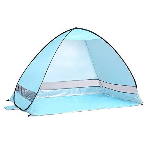 Al aire libre automático instantánea pop-up portátil tienda de playa anti UV refugio camping pesca senderismo picnic azul