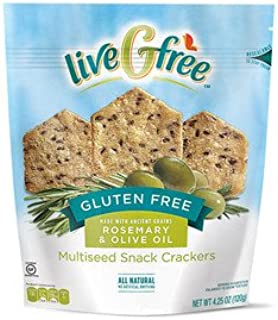 liveGfree Gluten Free Rosemary & Olive Oil Multiseed Crackers 4.25oz, pack of 1
