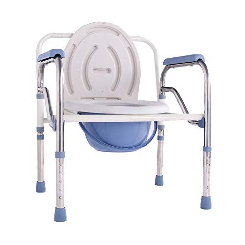 HuLiKing Toilettenstuhl, Erhöhen des Klappkommode-Stuhl-Toiletten-Einfassungs-Leichtgewichts, Badezimmer-Unterstützung for ältere Senioren, untauglich
