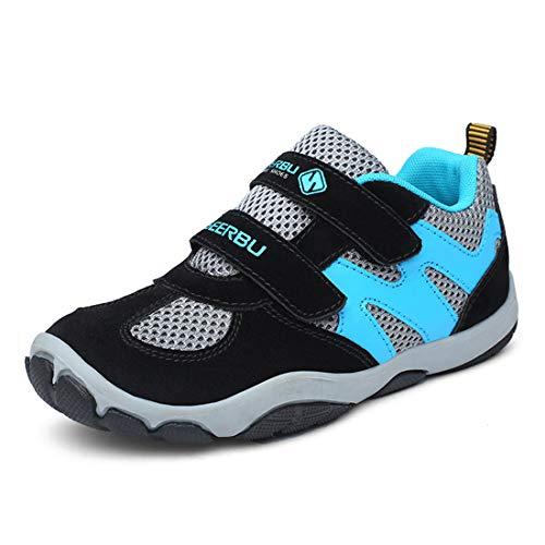 ADREAMONE Sneaker Kinder Laufschuhe Jungen Hallenschuhe Mädchen Turnschuhe Outdoor Air Sportart Schuhe für Unisex-Kinder (EU 38, 10~w-grau)
