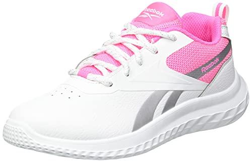 Reebok Rush Runner 3.0 Syn, Zapatillas de Running Mujer, Blanco/ELEPNK/Plamet, 39 EU