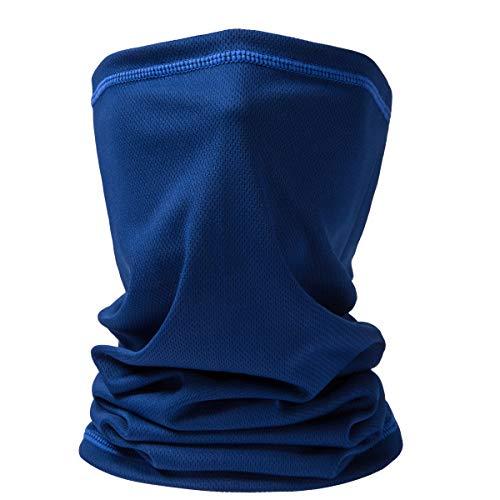Neck Gaiter Face Reusable,Dust Bandana Balaclava Scarf,Fishing Hiking Balaclava for Men Women Dark Blue