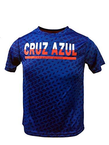 Junior Boys Cruz Azul Official Crew Neck, Short Sleeve Tee (Royal, Large)