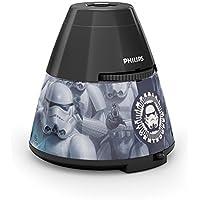 Philips Lighting Proyector y luz nocturna 2 en 1 717699916, 4.5 W, Negro