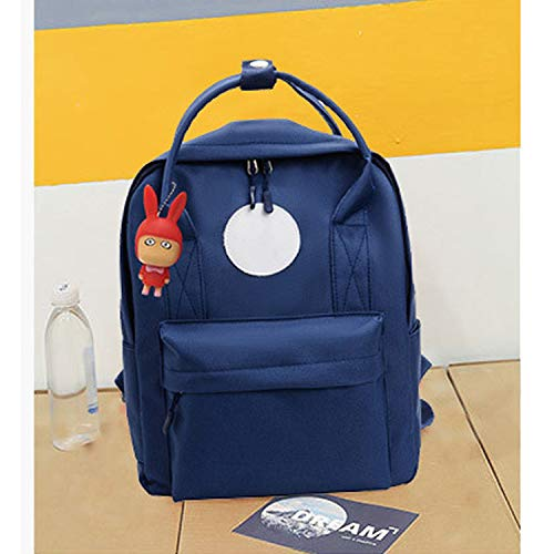 Backpack School Girls Round Card Blue Size
