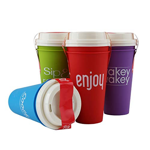 Take It To Go with Lids Reusable Plastic Travel Cups 16 OZ -8 pcs