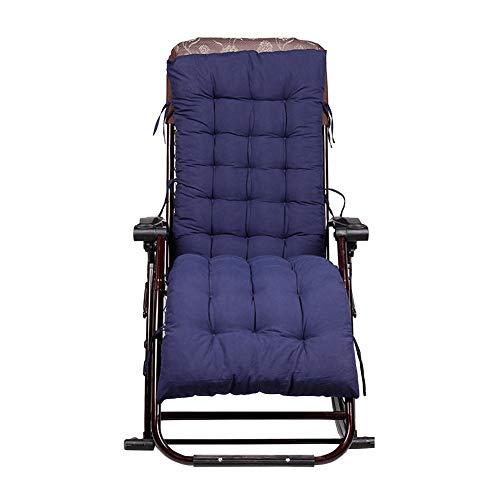 Coussin de Chaise Longue de Jardin - 155 x 48 x 8 cm (Chaise Non Incluse), bleu marine