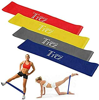 4PCS Resistance Bands for Legs and Butt Exercise Bands Resistance Band HD Latex Elastic Band Workout Bands for Home Workou...