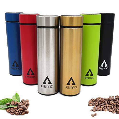 Termo cafe para llevar, Vaso termico cafe, Taza termo, Botella agua acero inoxidable, Botella termica, Termo cafe pequeño, Termo bebe, Taza termica, Termo agua caliente, Termo mate (Verde)