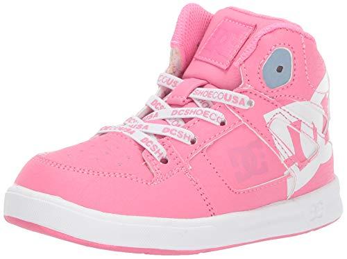 DC Girls' Pure HIGH-TOP SE UL SN Skate Shoe, Pink, 7 M M US Little Kid