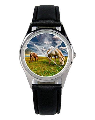 Geschenk für Reiter Pferde Freunde Züchter Uhr B-6080