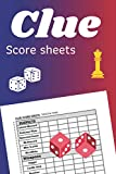 Clue Score Sheets: Clue Detective Notebook Sheets | Classic Clue Board Game Sheets | Clue Score Card and Notepad |Perfect Gift Idea for Kids and Adults