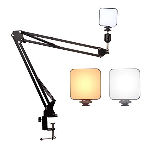 Anivia Video Conference Lighting Kit,Webcam Stand with Lighting,Mount Camera Arm Clampt Sand for Video Conferencing,Remote Working,Zoom Call Lighting,Self Broadcasting and Live Streaming