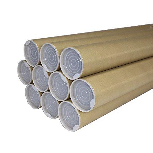 紙筒 丸筒 紙管 ポスター 筒 両端キャップ付 径51mm 肉厚1.0mm (【B2用】径51mm×長さ550mm 肉厚1.0mm)