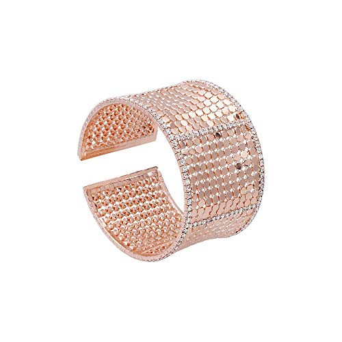 Stroili - Bracciale bangle con strass in metallo rosato per Donna