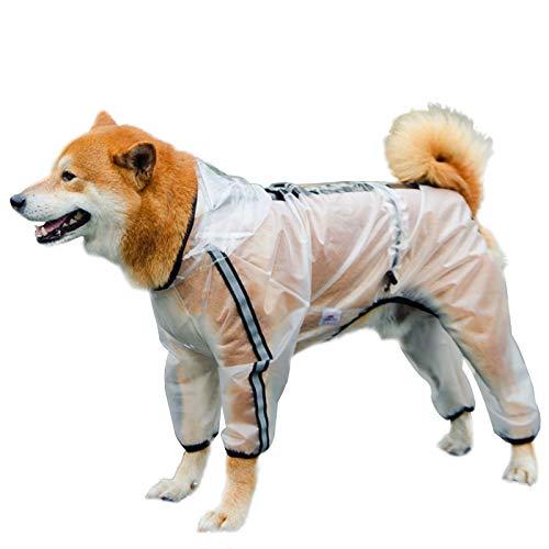 Chubasquero impermeable con agujero para arnés, abrigos de cachorros con capucha y...