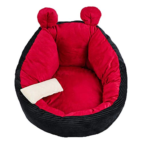 Milopon Pet Bed for Cats and Dogs, Plush Cat Bed Dog House Puppies Portable Warm Soft Comfortable Dog Kennel Small Dog Bed 40/50/60 cm