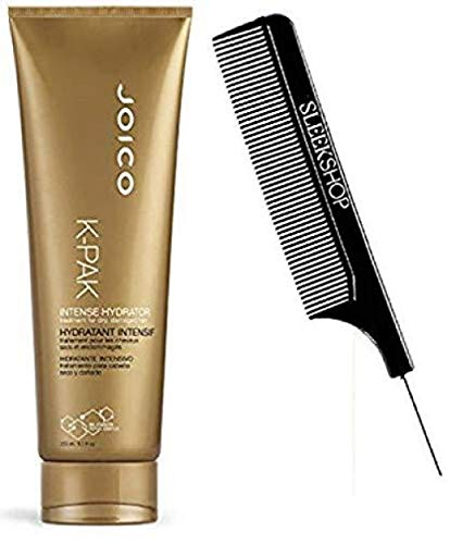 K-PAK INTENSE HYDRATOR Treatment for Dry, Damaged Hair (with Sleek Steel Pin Tail Comb) Bio-Advanced Peptide Complex (PREMIUM 8.5 oz / 250 ml (PACK OF 1))