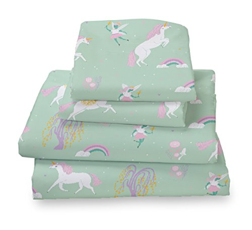 Where The Polka Dots Roam Full Fairytale Print Sheet Set for Kids Bedding - Double Brushed Ultra Microfiber Luxury Bedding Set