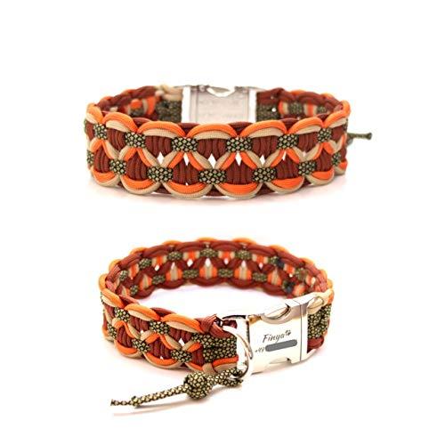 Paracord Halsband - Big Wave, Paracordhalsband, Hundehalsband, wahlweise mit Gravur oder weiteren Extras