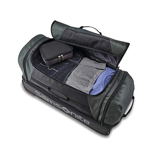 Samsonite Andante 2 Wheeled Rolling Duffel Bag, All Black, 22-Inch