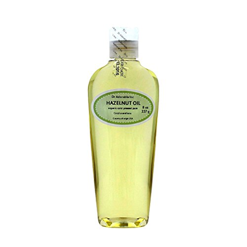 Hazelnut Oil Organic Pure Expeller Pressed by Dr.Adorable 8 Oz