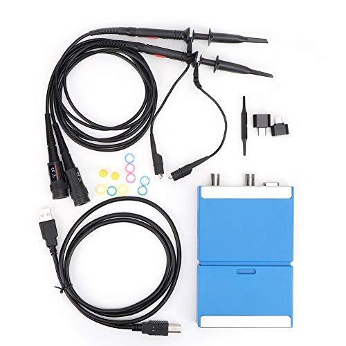 Osciloscopio de PC USB C520M 2 canales Ancho de banda de 20MHZ, 50M S/s, Osciloscopio virtual digital para teléfonos PC