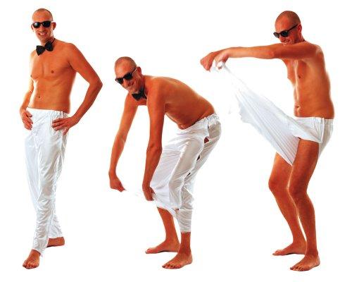 Party Pro 8650916 Pantalon Stripper Blanc, Multicolore