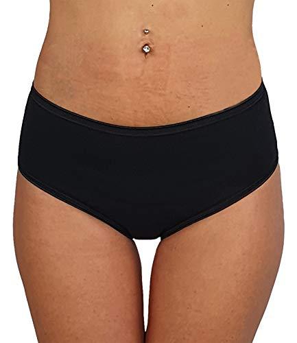 Cotonella Slip Midi Donna in Cotone Elasticizzato Art. 3940 - Confezione da 6 Pezzi - Colori Bianco E Nero - 6 Pezzi Nero 5