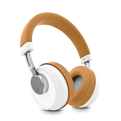 Energy Sistem BT Smart 6 Auriculares Bluetooth con Tecnología Voice Assistant, Color Blanco/Beige (Camel), 17.5 x 20.5 x 7.5 cm