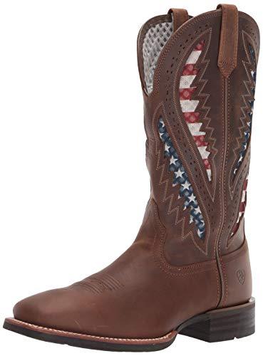 ARIAT Men's Quickdraw Venttek Western Boot, Distressed Brown, 10