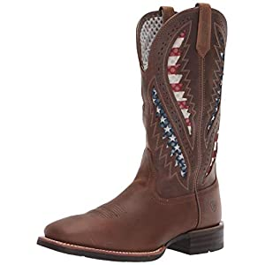 Ariat Men's Quickdraw Venttek Western Boot, Distressed Brown, 14EE