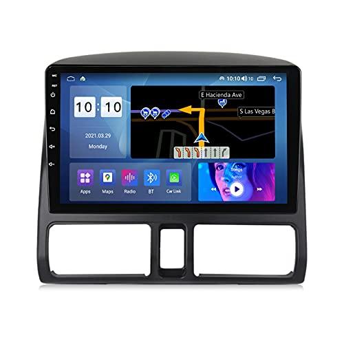 ADMLZQQ Android 10 Radio Coche Audio estéreo para Honda CRV 2002-2005 Pantalla táctil HD navegación GPS FM USB Bluetooth Control del Volante Cámara Trasera,M200s