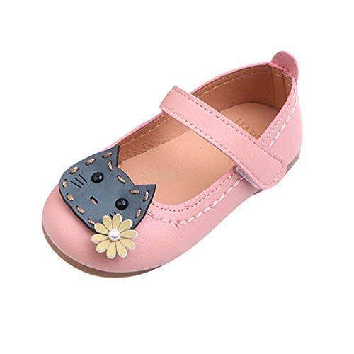 VECDY Zapatos Bebe Niña Bautizo, Moda Suave Zapatos 2019 Niños Pequeños para Bebés,niñas,Flores,Gatos,Princesas,Zapatos,Sandalias Casuales Zapatos Sandalias Verano para Infantil Deportivas (Rosa,23)