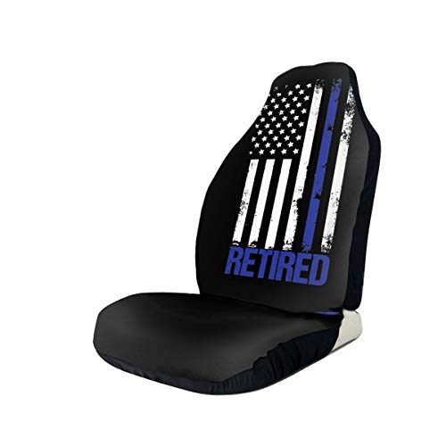 Great Deal! Retired Police Officer American Flag Car Seat Covers for Vehicles Universal 3D Printing ...