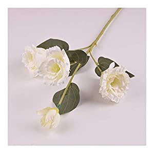 JiaQinHe Remains Gardenia Artificial Flowers Silk Simulation Platycodon Grandiflorum Botanical Plant Home Wedding Decoration Never (Color : White)