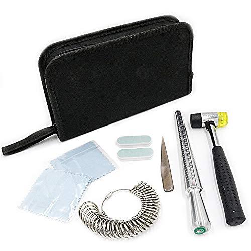 9 STÜCKE Edelstahl Legierung Ring Sizer Schmuck Reparatur Werkzeuge UK Messskalen Kit Werkzeuge für Messringe Finger Durchmesser