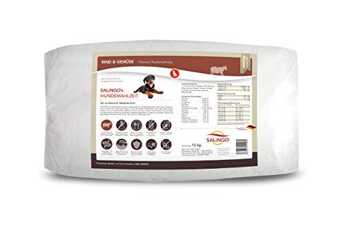 SALiNGO Premium Trockenfutter | Hundefutter trocken Rind mit Gemüse | zuckerfrei | 15 kg