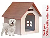 PetNest Wooden Water Proof Home Puppy House Dog House Kennel Indoor and Outdoor Ideal for Small and Medium Dogs House for Dogs Pets 31 x 27 x 21.5 Inches