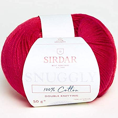 20 g red Creativ 100263 Mercerised Cotton Yarn