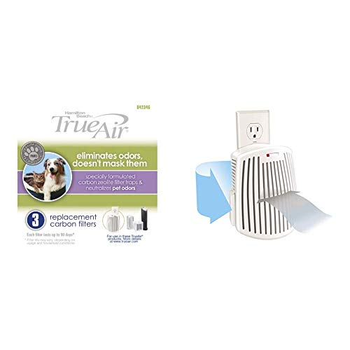 Hamilton Beach TrueAir Replacement Carbon Filter, 3-Pack (04234G) TrueAir Plug-Mount Odor Eliminator with Carbon Filter + Green Mountain Scent Cartridge,...