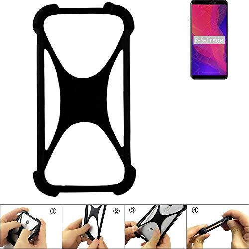 K-S-Trade Handyhülle Kompatibel Mit Ulefone Power 3L Schutz Hülle Silikon Bumper Cover Hülle Silikoncase TPU Softcase Schutzhülle Smartphone Stoßschutz, Schwarz (1x)