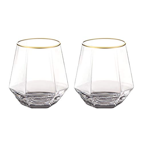 AHAI YU Cristal Premium - Cata de vinos Copa de Vino, Gafas de Whisky Conjunto de 2 Sets 300ml, Copas de Vino, hogar, restaurantes y Fiestas Hombres o Mujeres